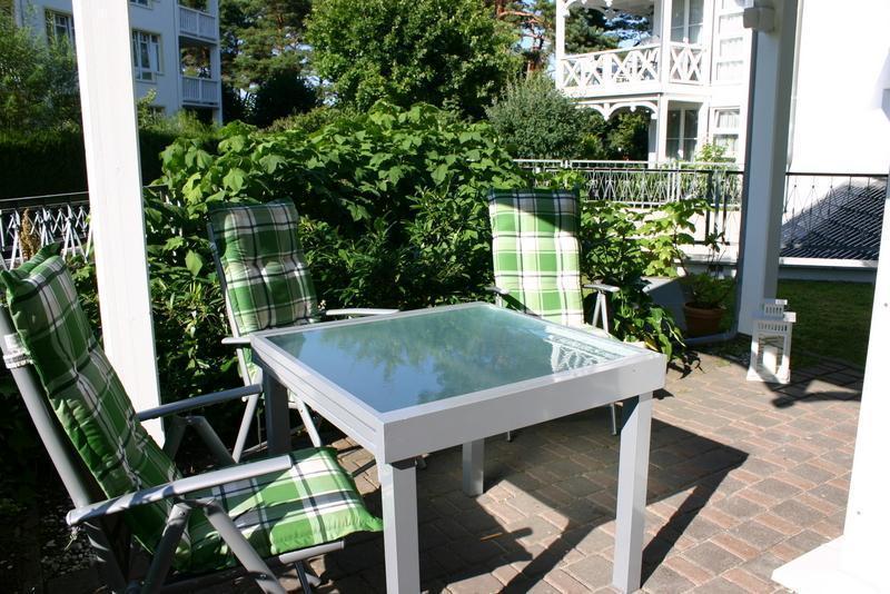 Terrasse Ferienwohnung Binz im Haus Strelasund