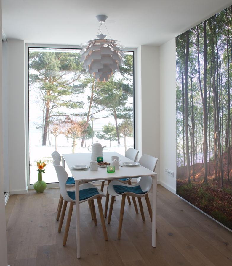 Villa Vogue Binz Leuchtbild LED-Bild leuchtendes Waldbild