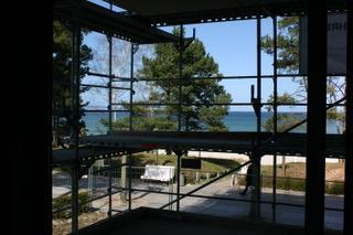 Balkonblick während Bau